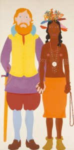 john smith and poca 1968 oil-linen