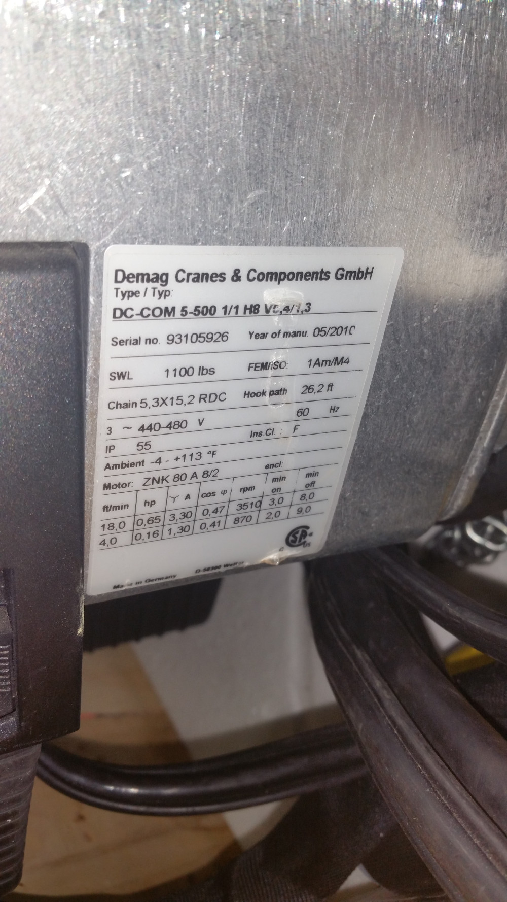 medium resolution of chain hoists ir and demag ton qty 14 vancouver wa