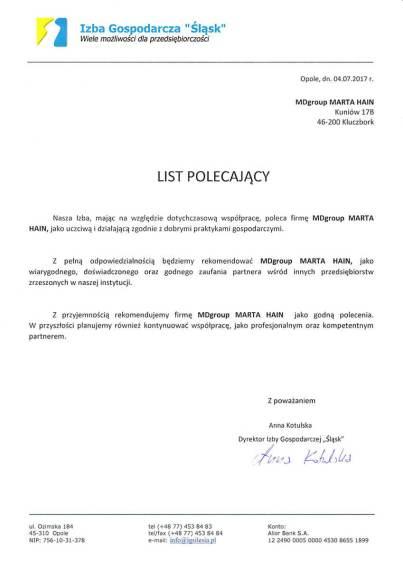 MDszkolenia.pl_IGS_Izba-Gospodarcza-Slask_List-polecający