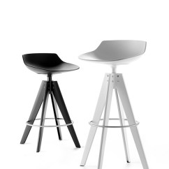 High Seat Chairs Kitchen Table Set Of 4 Flow Stool. And Low Stools With A Modern Design. Mdf Italia.
