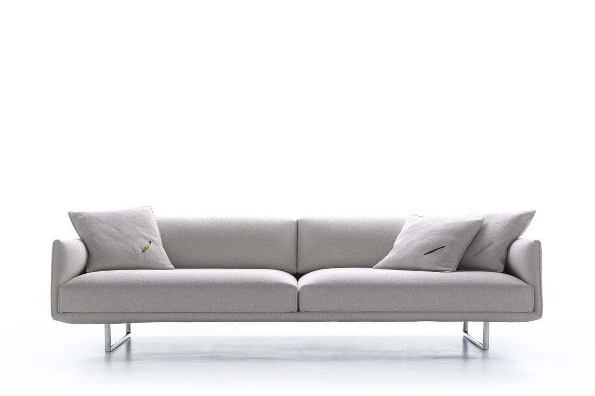 Hara sofa Technology with a careful and minimal design