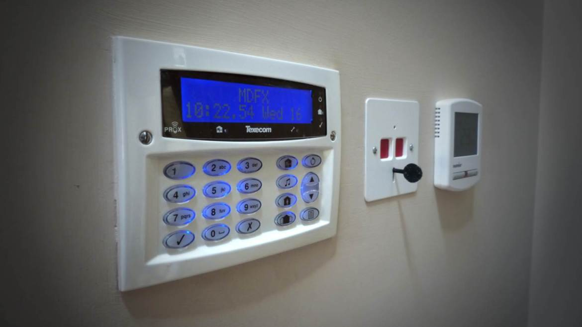 Texecom security console installed to home