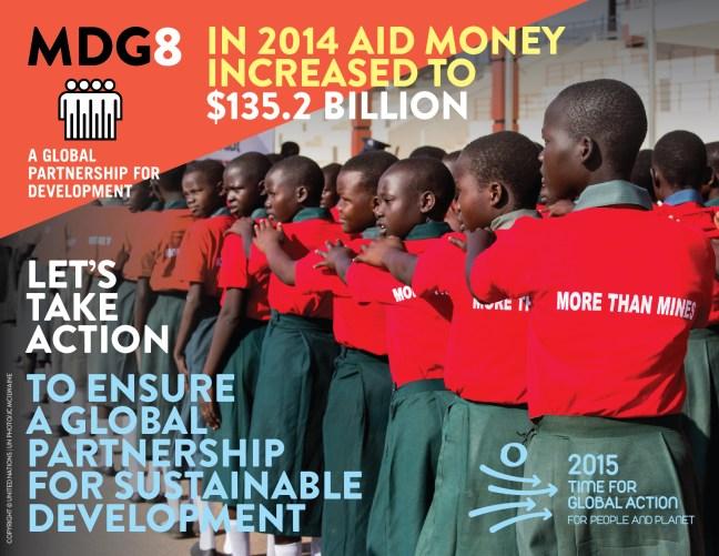 Develop a global partnership for development