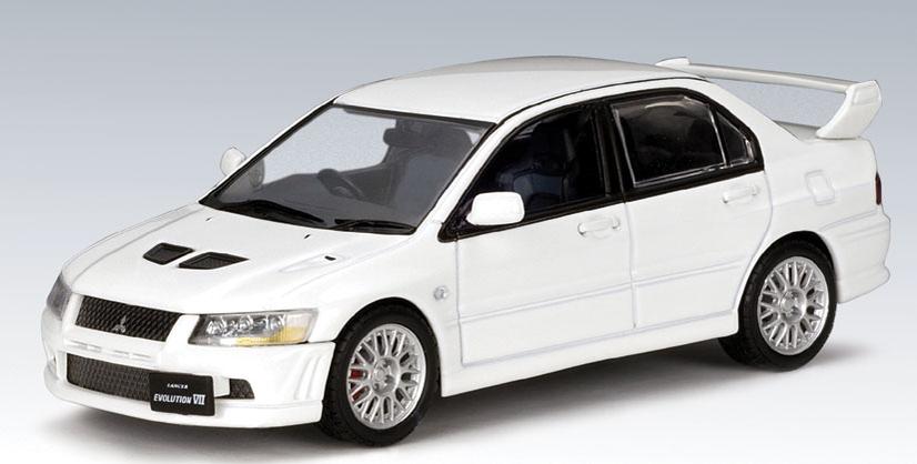 AUTOart Mitsubishi Lancer Evo VII White 57162 In 143 Scale MDiecast