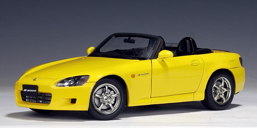 AUTOart Honda S2000 RHD Yellow Japanese Version 73209 In 118 Scale MDiecast
