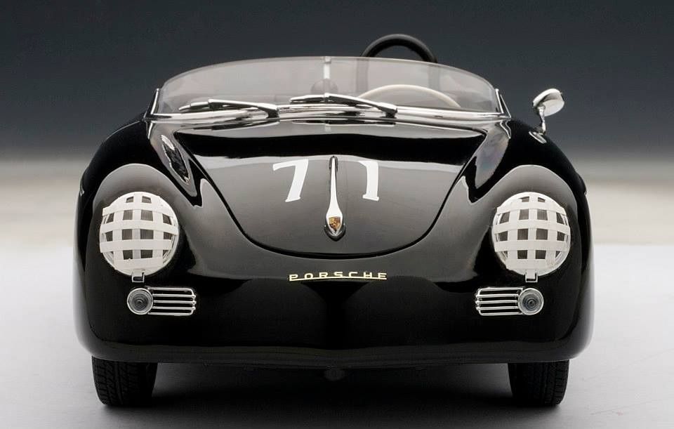 AUTOart Porsche Speedster 71 Steve McQueen Version Black 77866 In 118 Scale MDiecast