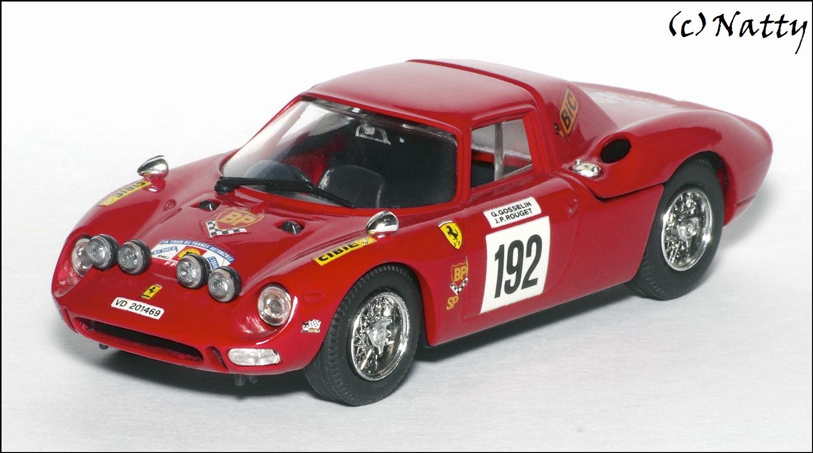 Best Model 1969 Ferrari 250 LM Tour De France Red