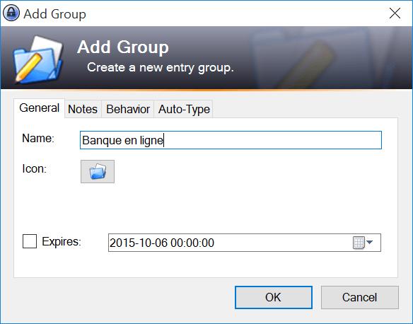 Créer un groupe