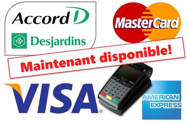 Financement Accord D Visa MasterCard et American Express disponibles chez MD Informatique Inc.