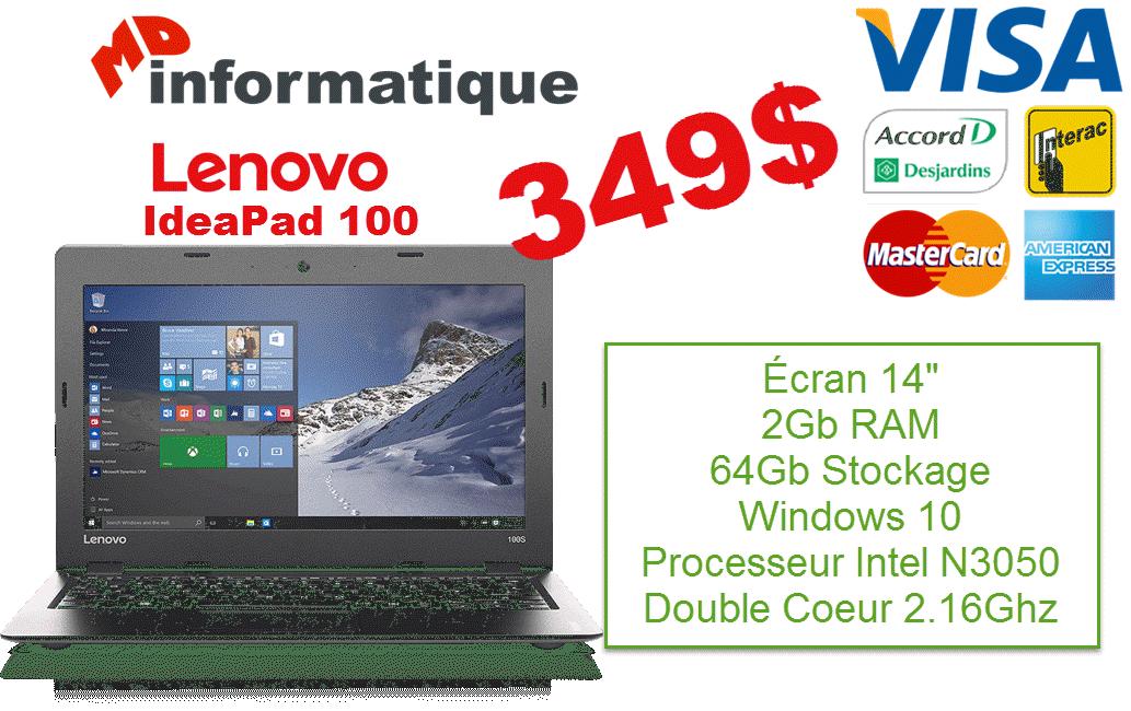 Lenovo IdeaPad 100 MD Informatique