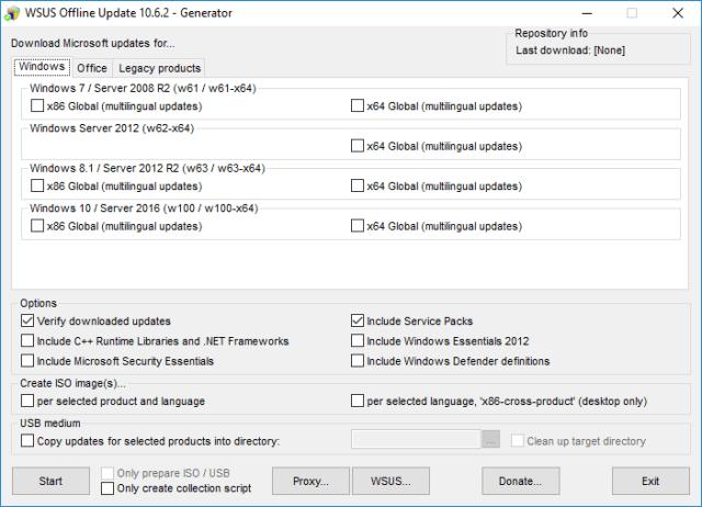 WSus Offline Choix du OS