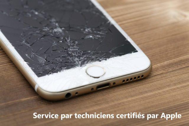 Service de réparation d'écran d'iPhone le jour même par des techniciens certifiés par Apple.