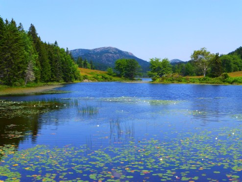 Little Long Pond with Penobscot Mountain by Jim Keene