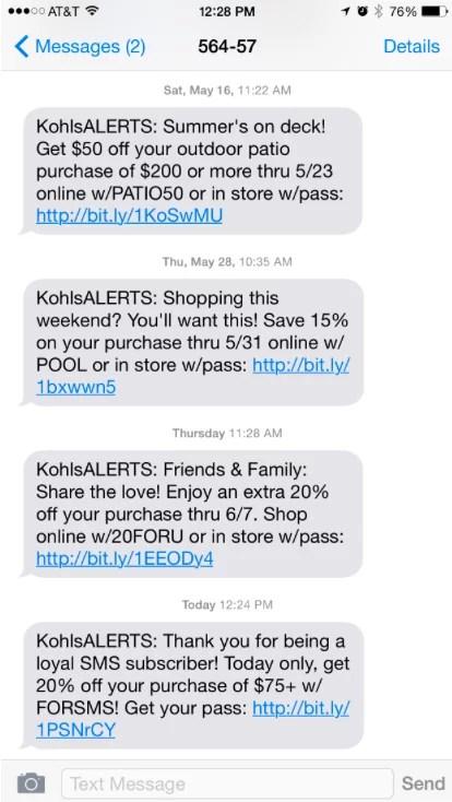 valor CTA para SMS marketing