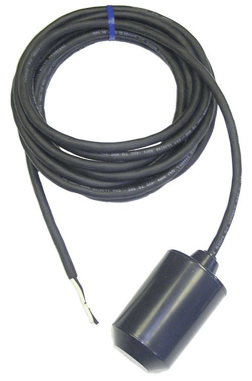 small resolution of high amp float switch 25 amp 20 foot normally open wide angle skive cord ends