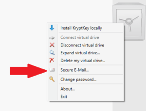 Accessing the secure email feature