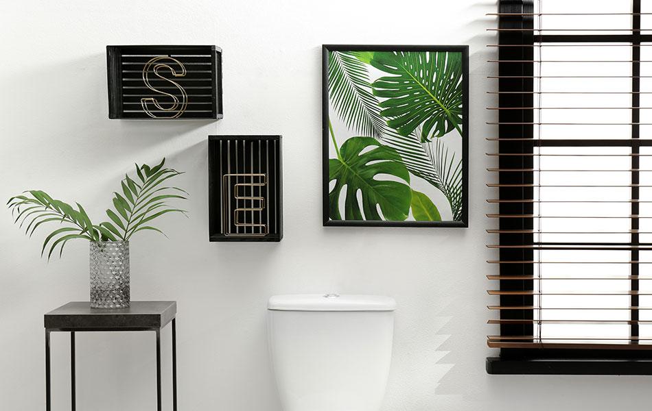 Linda decoração para lavabo