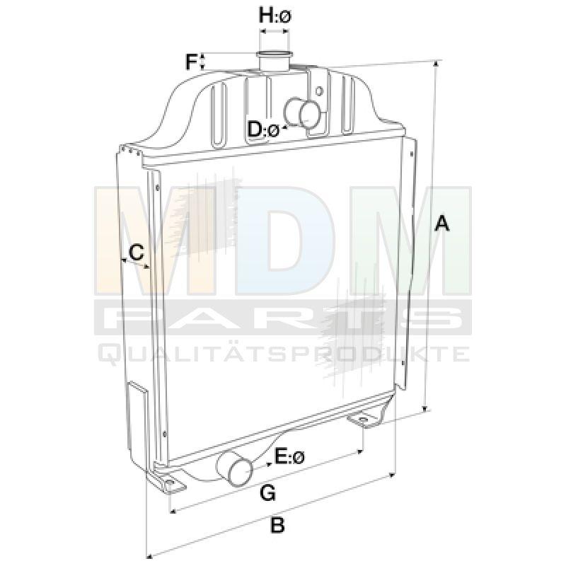 Radiator IH 956 1056 XL