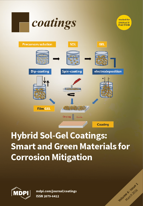 Coatings  Free FullText  Hybrid SolGel Coatings Smart and Green Materials for Corrosion