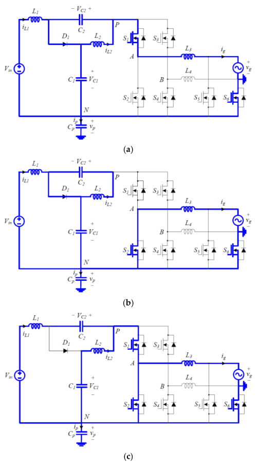 small resolution of electronics 08 00312 g003 figure 3 switching circuit diagrams of the proposed inverter