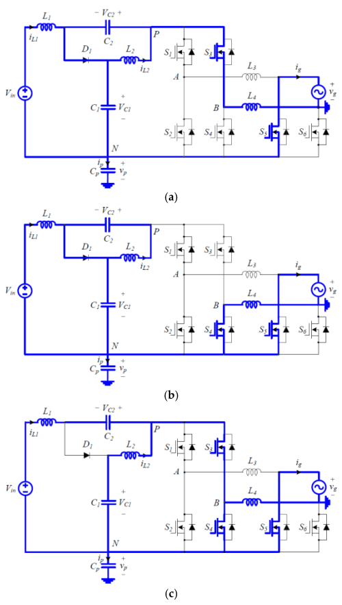 small resolution of electronics 08 00312 g004 figure 4 switching circuit diagrams of the proposed inverter