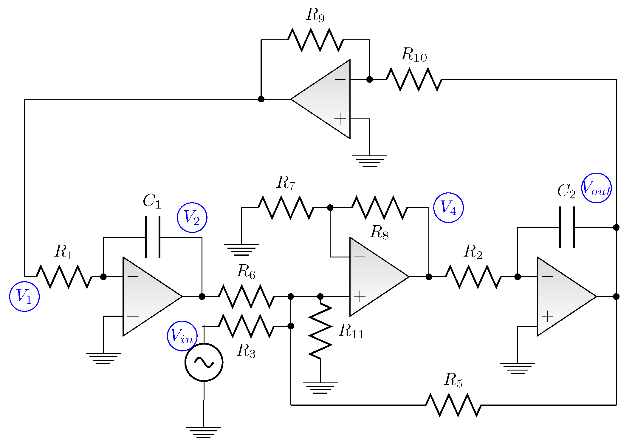 Switched Capacitor Bandpass Filter Circuit