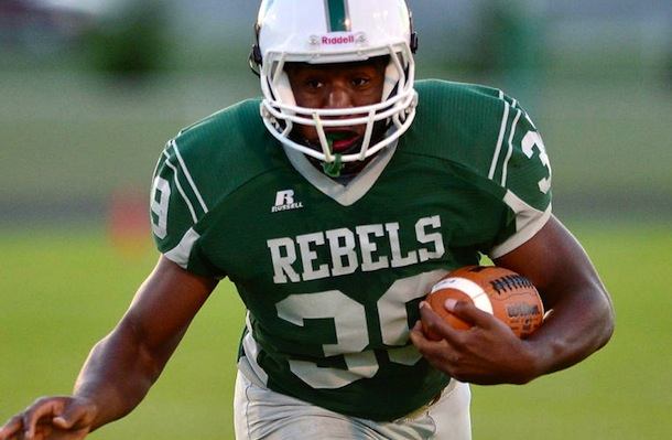 Isiaha Smith broke the single-season state rushing record previously held by Ben Tate in 2013, then the South Hagerstown senior received a tweet of congrats from the current NFL player on his accomplishment. [Photo courtesy The Herald-Mail/Ric Dugan]