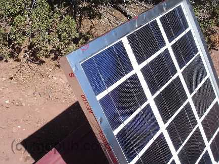 The solar panel sealed with aluminum tape
