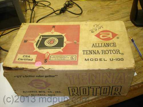 small resolution of the 1960s vintage antenna rotator box