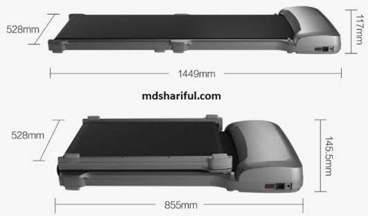 WalkingPad C1 size