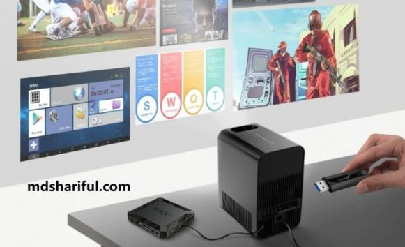 AUN AKEY7 LCD LED Projector connetion