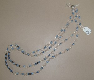 51.  Crystal and Blue Beaded Necklace