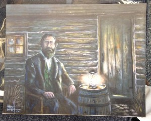 """82. 11x14 print of Brewster Higley, the writer of the Kansas State Song """"Home on the Range,"""" painted by Marshal Allen D. Bailey"""