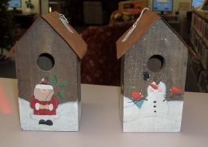 7-13.  Birdhouse  (3 birdhouses are Snowmen, 4 birdhouses are Santa)