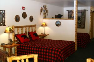 The Logger Suite at Meadowbrook Resort & DellsPackages.com in Wisconsin Dells