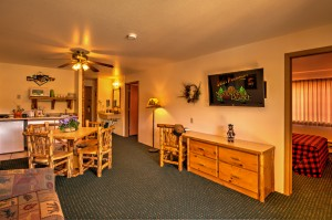 The Lumberjack Suite at Meadowbrook Resort & DellsPackages.com in Wisconsin Dells
