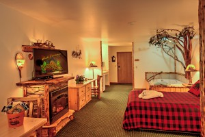 The Voyageur Whirlpool & Fireplace Suite at Meadowbrook Resort & DellsPackages.com in Wisconsin Dells