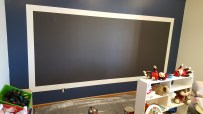 The chalkboard in the Playroom.
