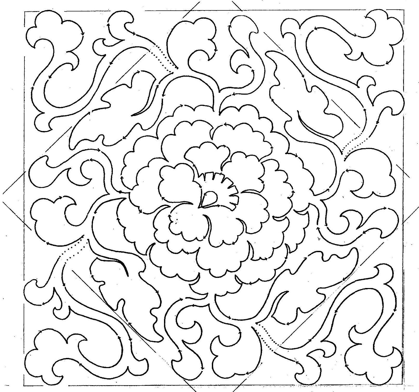 Chinese Medallion Set 12″ or 15″ Block Pattern