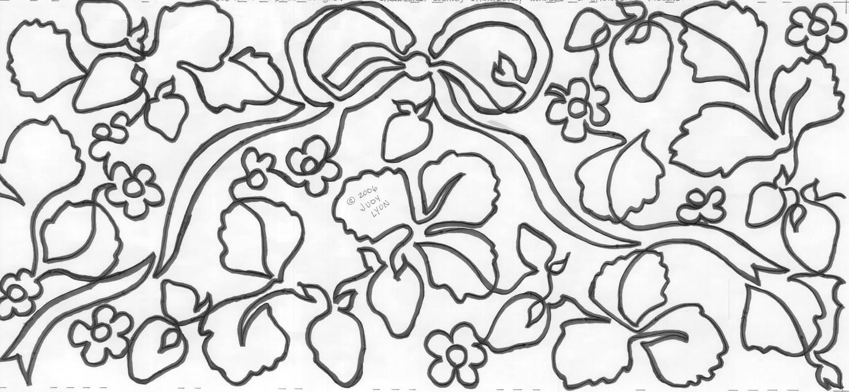 » Strawberry Fields 11″ Edge-to-Edge Pantograph