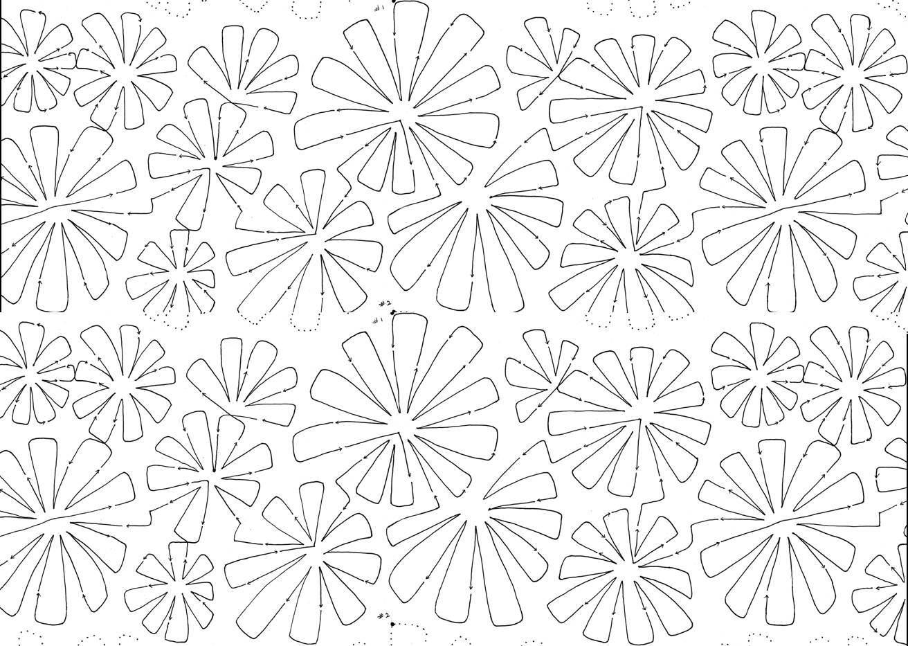 » Flowerburst 10″ Interlocking Pantograph #2225