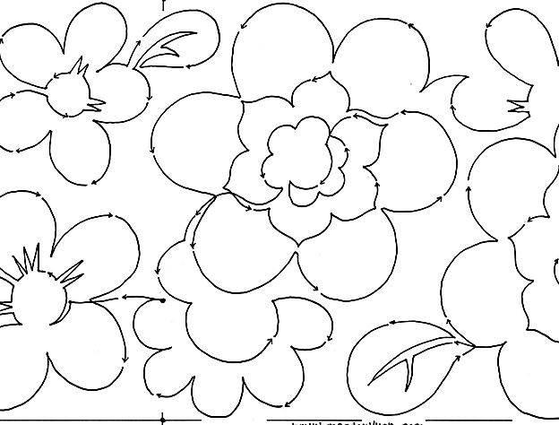 Japonica Blooms #2226 10″ Edge-to-Edge Pantograph