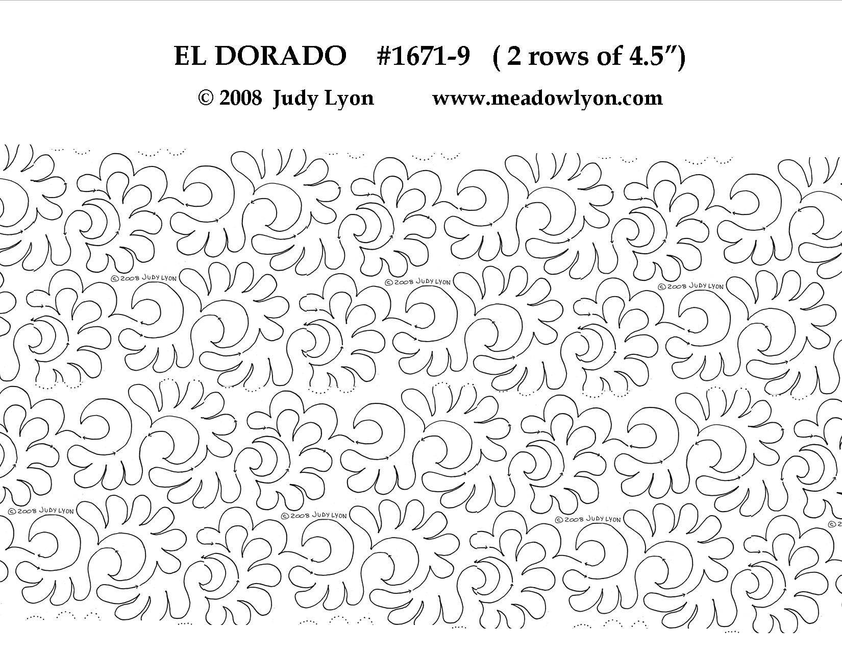 El Dorado #1671 2 rows of 4 1/2″ Interlocking Pantograph