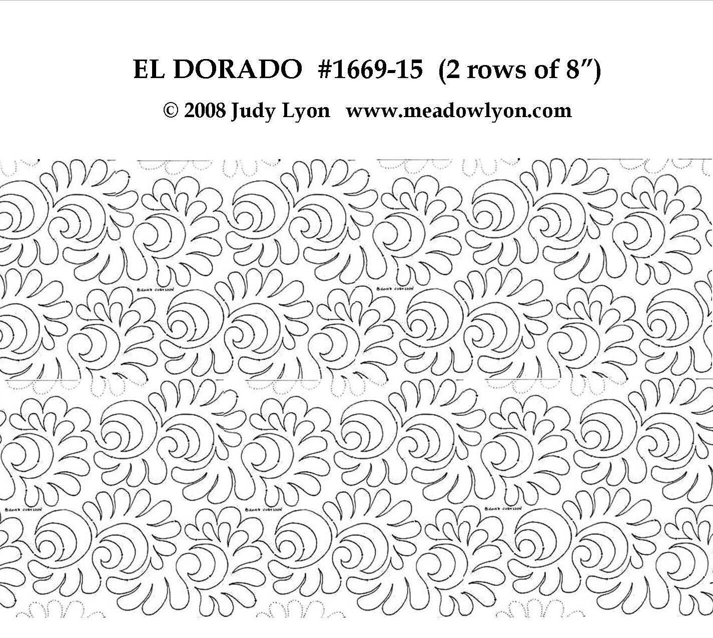 El Dorado 2 rows of 8″ Interlocking