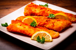 Delicious Portuguese fried bass fillets available in our Portuguese catering menu