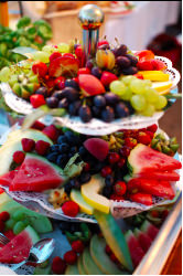Fresh fruit available in the appetizer and dessert catering menu
