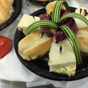 Business Meals of Egg Salad and Turkey Sandwiches