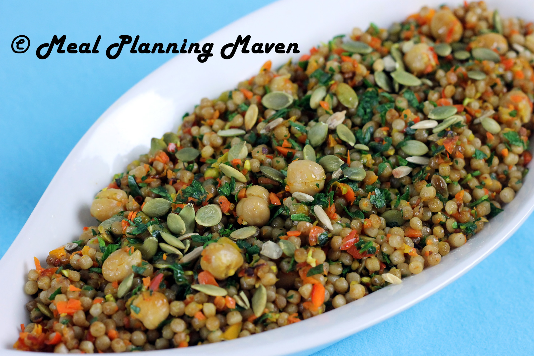 Israeli Couscous with Chickpeas 'n Veggies