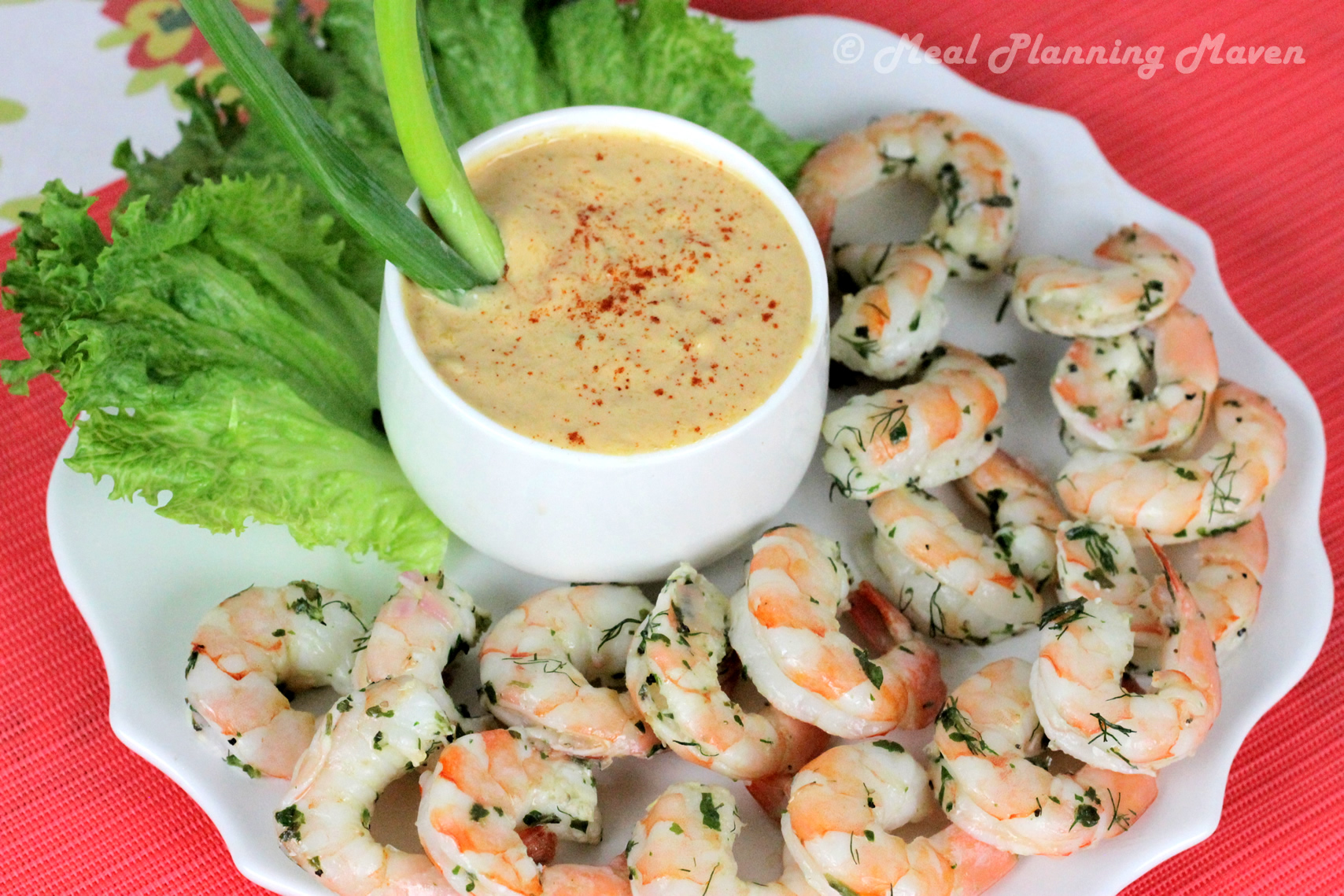 Chilled Shrimp with Spicy Mango Mayo