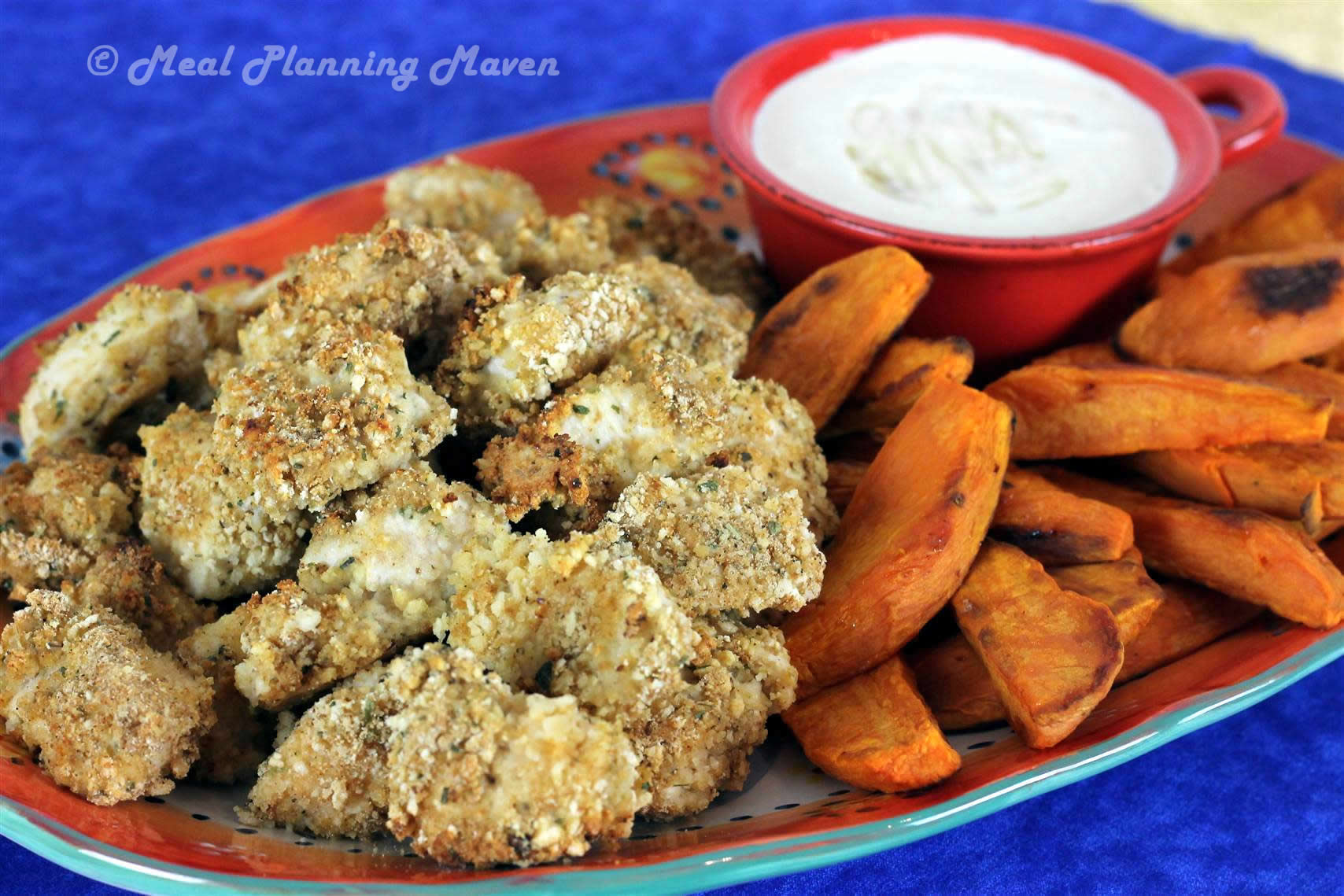 Crispy Baked Chicken Nuggets with Honey Mustard Dip
